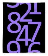 Numbers In Purple And Black Fleece Blanket