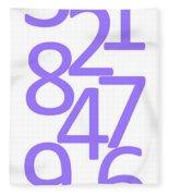 Numbers In Purple Fleece Blanket