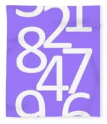 Numbers In White And Purple Fleece Blanket