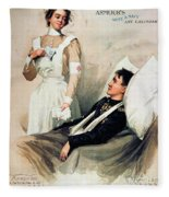 Nurse: Calendar, 1899 Fleece Blanket