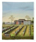 Nursery Garden, C.1820-40 Fleece Blanket