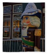 Nutcracker Statue In Downtown Grants Pass Fleece Blanket