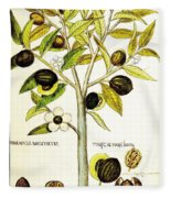 Nutmeg Plant Botanical Fleece Blanket