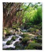 Banyan Nuuanu Stream Fleece Blanket