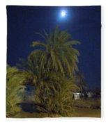 Nuweiba By Night Sinai Egypt Fleece Blanket