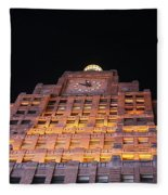 Ny Clock Tower Fleece Blanket