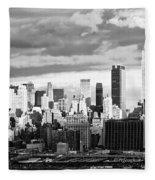 Ny Skyline Light And Shadows Fleece Blanket