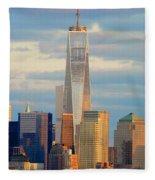 Ny Sundown One World Trade  Fleece Blanket