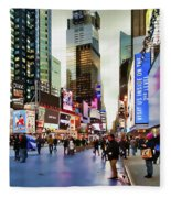 Ny Times Square Impressions I Fleece Blanket