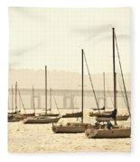Nyack New York  Fleece Blanket