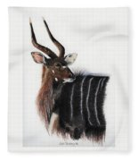Nyala Bull Fleece Blanket