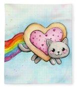 Nyan Cat Valentine Heart Fleece Blanket