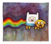 Nyan Time Fleece Blanket