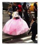 Nyc Ball Gown Walk Fleece Blanket