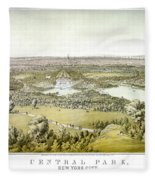 Nyc Central Park, C1859 Fleece Blanket