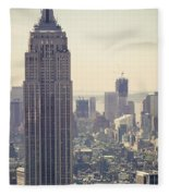 Nyc - Empire State Building Fleece Blanket