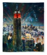 Nyc In Fourth Of July Independence Day Fleece Blanket