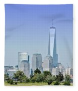 Nyc Skyline From The Park - Image 1666-01 Fleece Blanket