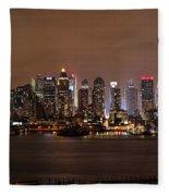 Nyc Skyline Fleece Blanket