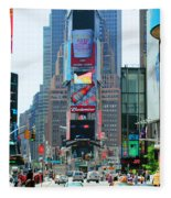 New York City Times Square Fleece Blanket