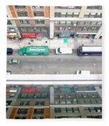 Nyc Urban Reflection Fleece Blanket