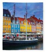 Nyhavn Canal Fleece Blanket