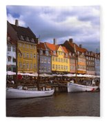 Nyhavn Copenhagen Fleece Blanket