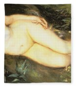 Nymph At The Stream Fleece Blanket