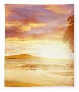 Nz Sunlight Fleece Blanket