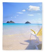 Oahu Lanikai Beach Fleece Blanket