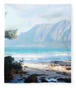 Oahu Sight Fleece Blanket