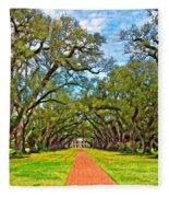 Oak Alley 3 Oil Fleece Blanket