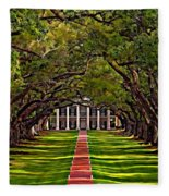 Oak Alley II Fleece Blanket