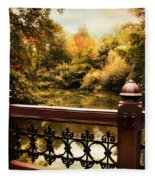 Oak Bridge Autumn Fleece Blanket
