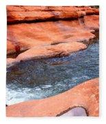 Oak Creek At Slide Rock Fleece Blanket