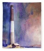 Oak Island Lighthouse Fleece Blanket