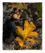 Oak Leaf And Acorn In Autumn Fleece Blanket
