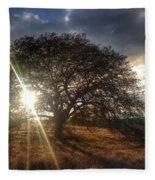 Oak Tree At The Plateau Fleece Blanket
