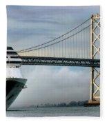 Oakland Bay Bridge  Fleece Blanket