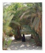Oase Rest Desert Sinai Egypt Fleece Blanket