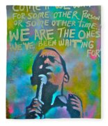 Obama In Living Color Fleece Blanket