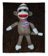 Obama Sock Monkey Fleece Blanket
