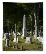 Obelisk And Headstones Fleece Blanket