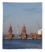 Oberbaum Bridge - Berlin Fleece Blanket