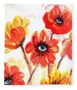 Observant Flowers 101 Fleece Blanket