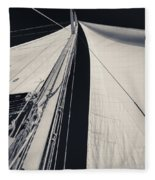 Obsession Sails 2 Black And White Fleece Blanket