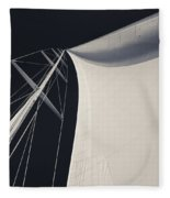 Obsession Sails 3 Black And White Fleece Blanket