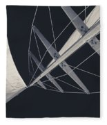 Obsession Sails 7 Black And White Fleece Blanket