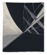 Obsession Sails 8 Black And White Fleece Blanket