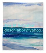 Ocean Assateague Virginia Fleece Blanket